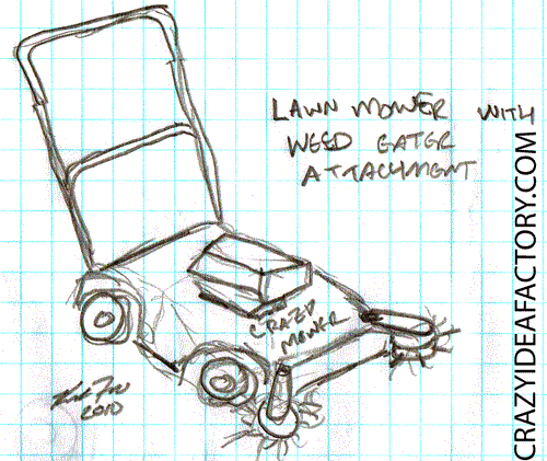 Lawn Mower Weed Whacker Combo Crazy Idea Factory